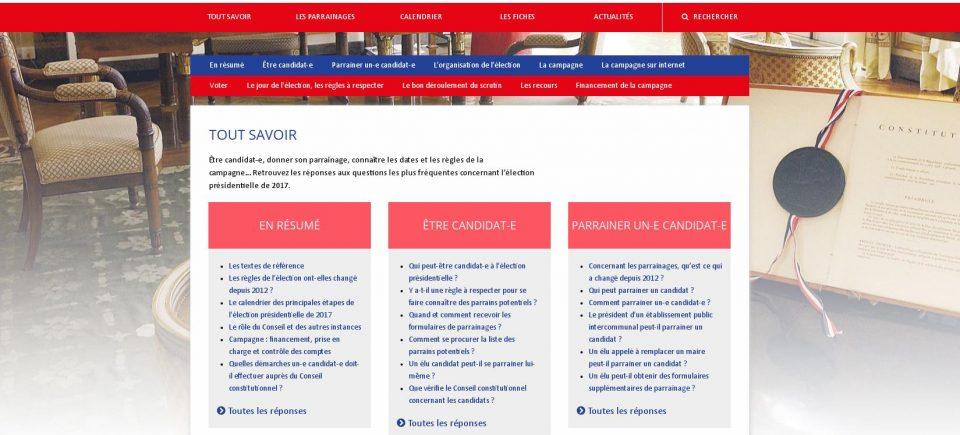 Bienvenue sur notre site consacré à l'élection présidentielle